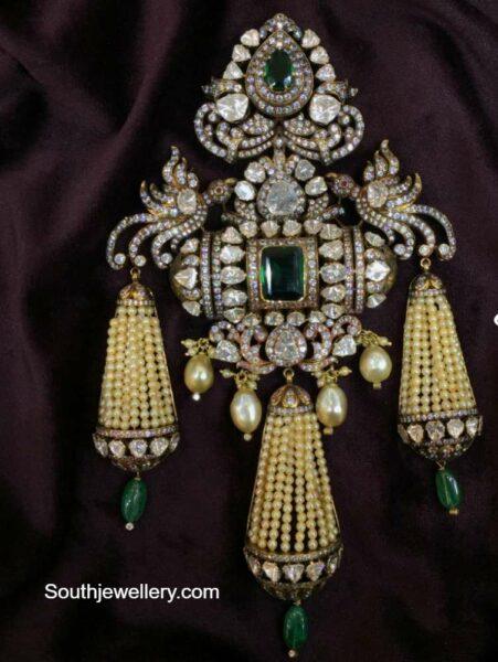polki diamond pendant