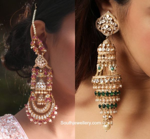 statement polki earrings