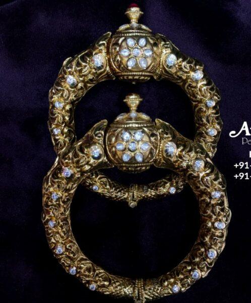 antique gold kada designs