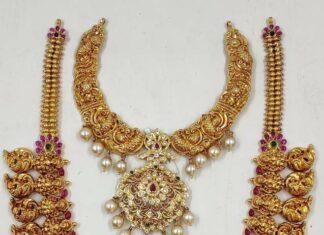 antique gold nakshi necklace designs