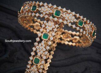 diamond and emerald bangles (1)
