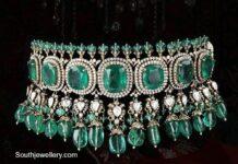 diamond and emerald choker (7)