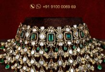 diamond and polki choker jatin mor jewels