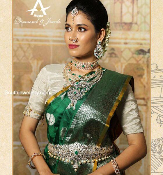diamond emerald choker and necklace set (1)