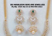 diamond necklace and buttalu