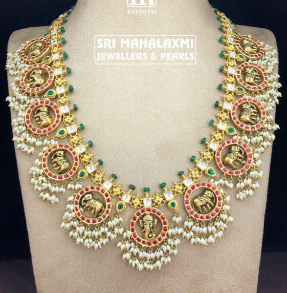 elephant guttapusalu necklace