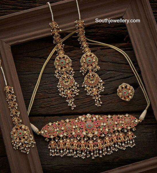 kundan choker set navrathan jewellers