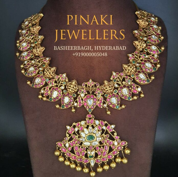 kundan mango necklace (2)