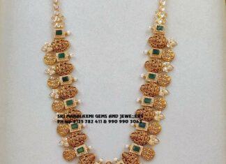 lakshmi gold haram and jhumkas