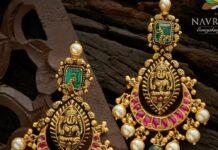 lakshmi kundan earrings navrathan