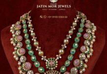layered kundan haram jatin mor jewels