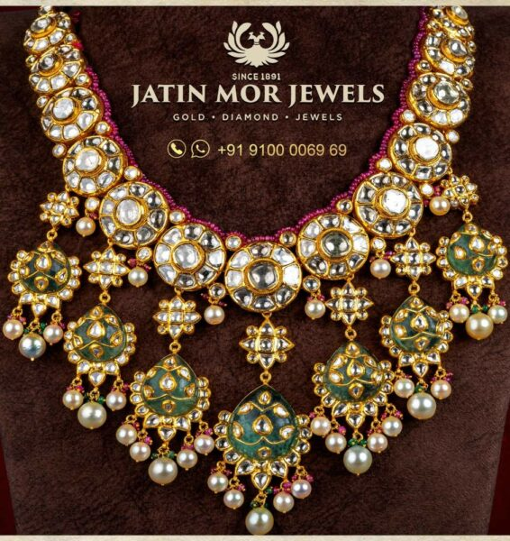 meenakari kundan necklace jatin mor jewels
