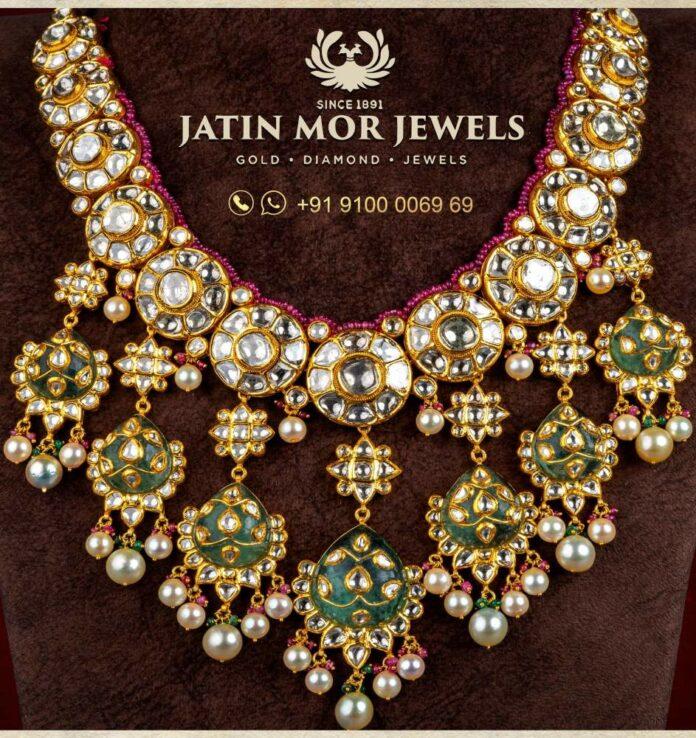 meenakari kundan necklace jatin mor jewels