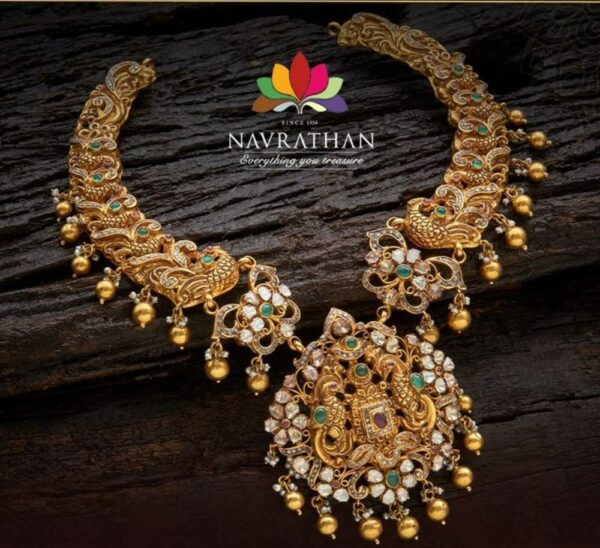 nakshi peacock necklace (1)
