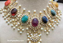 navrathan polki necklace