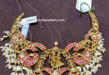 peacock nakshi kundan necklace