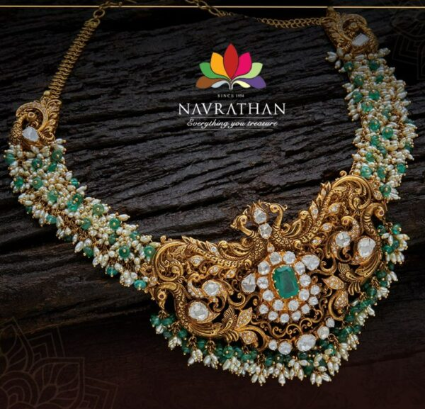 pearl necklace with polki pendant (1)
