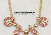 simple kundan bottu necklace