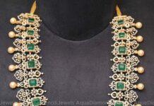 bridal diamond and emerald haram