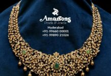 closed setting diamond necklace