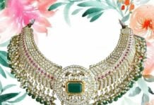 closed setting tussi diamond necklace