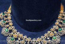 diamond emerald necklace aqua diamond and jewels