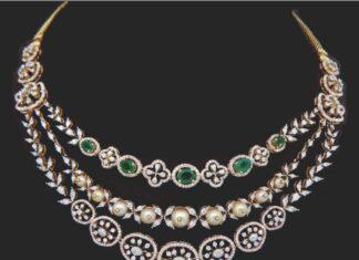 diamond step necklace
