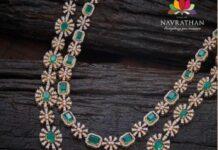 layered diamond and emerald haram