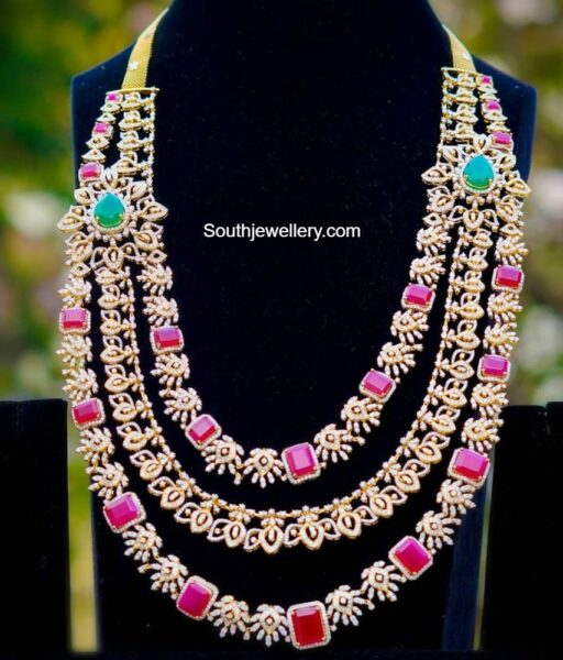 layered diamond and rubies haram