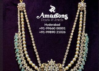 layered polki and pearl haram