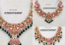 light weight peacock kundan necklace designs