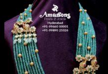 multi strand emerald beads haram