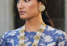 pearl haram and earrings