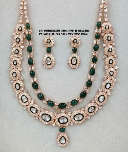polki diamond and emerald step haram