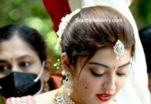 pranitha subhash wedding jewellery