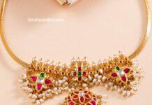 simple guttapusalu necklace neelkanth