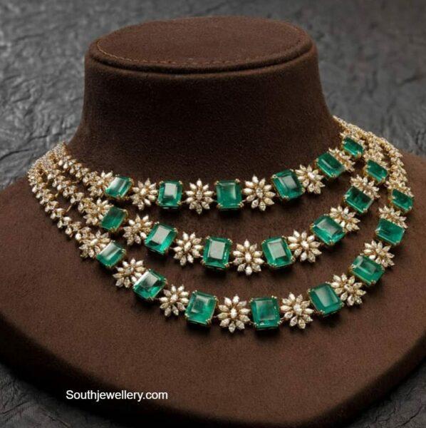 three step diamond necklace