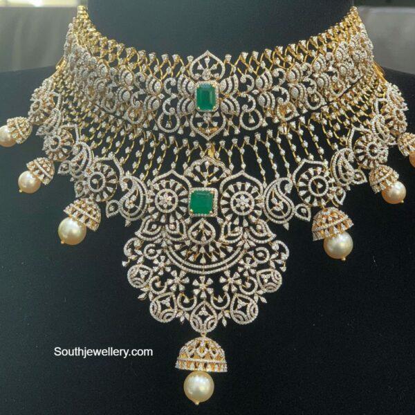 two step diamond choker ratnagarba