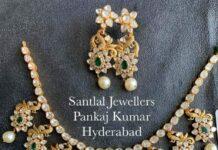 uncut diamond peacock necklace