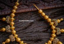 antique gold balls necklace