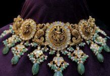 antique gold lakshmi choker (2)