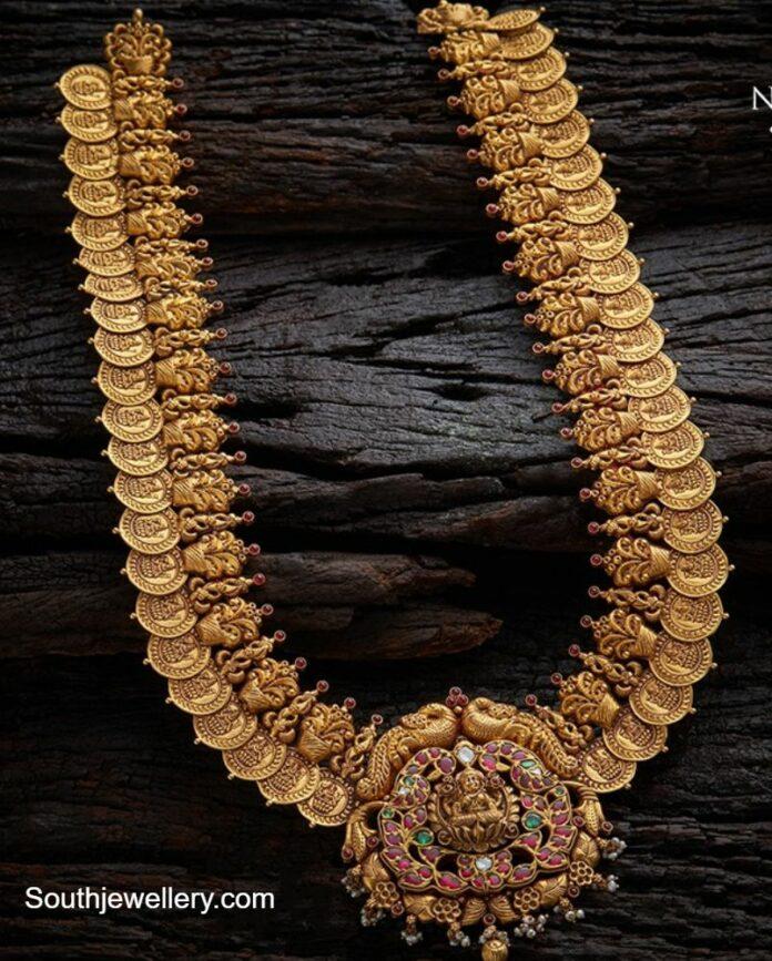 antique gold lakshmi kasu haram