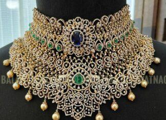 bridal diamond choker balaji jewellers