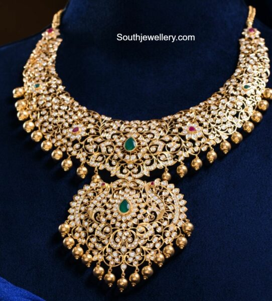 closed setting diamond necklace pmj
