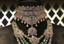 diamond and emerald choker and step haram