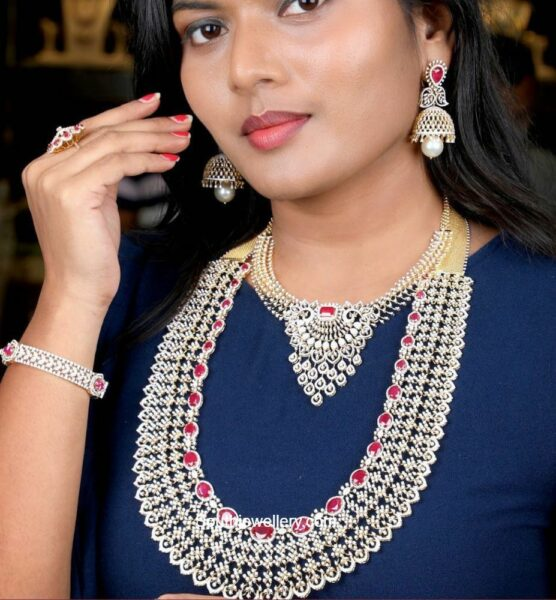 diamond and ruby jewellery set (1)