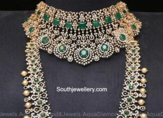 diamond emerald choker and haram