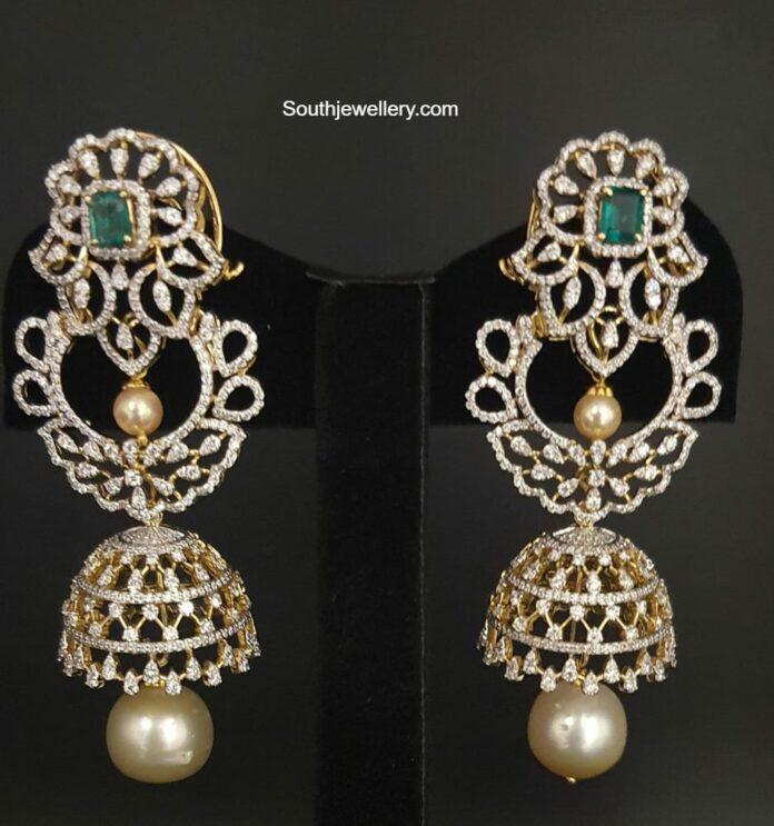diamond jhumkis pinaki jewellers