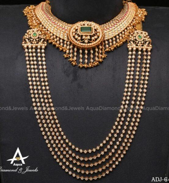 diamond necklace and chandraharam