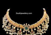 guttapusalu necklace and erarings